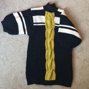 Free People Black knit sweater dress. Brand new.
